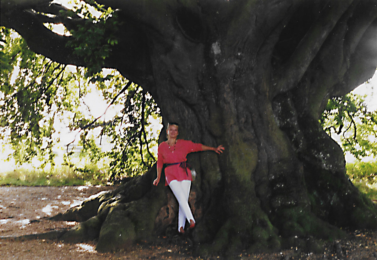 The impressive size of the tree trunk, 1992